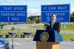 Governor Cuomo Unveils Texting Zones