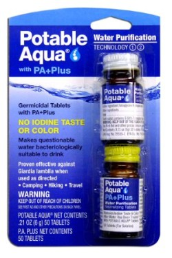 Potable Aqua Water Purification Tablets with PA Plus
