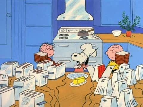 Snoopy Making Thanksgiving Dinner
