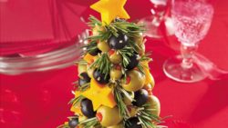 Cheese and Olive Christmas Tree Appetizer