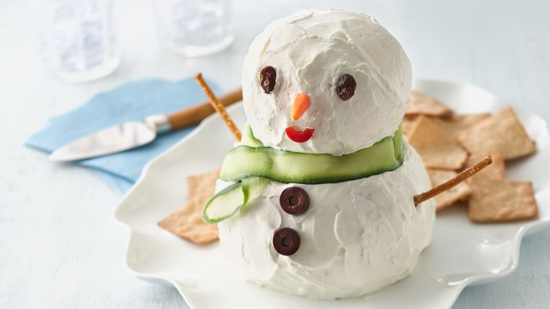 Cute Snowman Cheese Ball