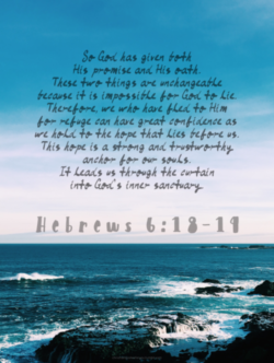 Hope in God because he is our anchor