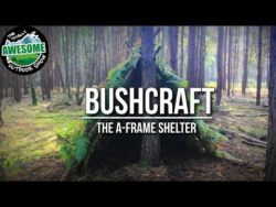 Building an A-Frame Shelter | Christian Bushcraft Shelters
