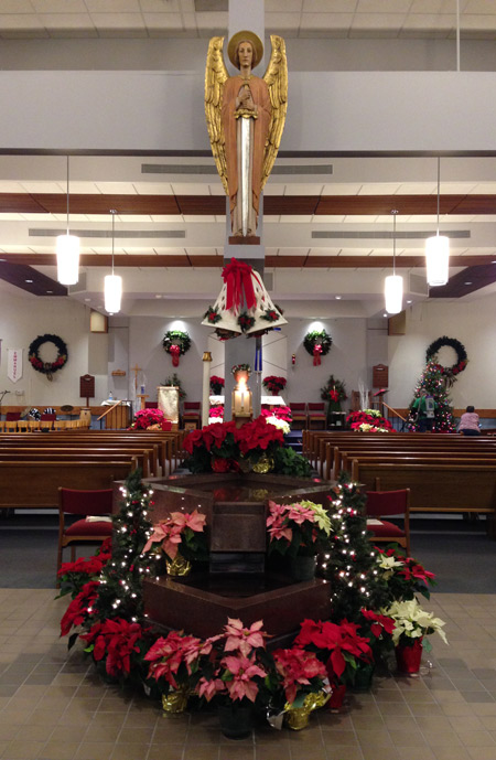 Christmas Decorations at St. Michael the Archangel Roman Catholic Church