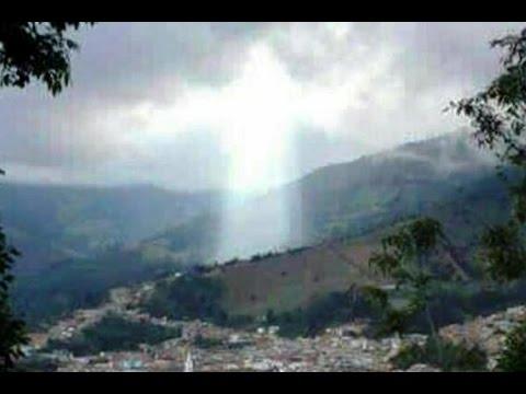Figure Of Jesus Appears Above Colombian City After Landslide