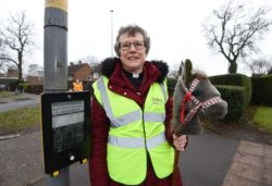 Reverend uses hobby horse to help guide pupils to safety