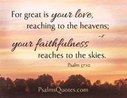 Psalm About Love – Psalm 57:10
