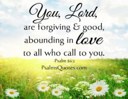 Psalm About Love: Psalm 86:5