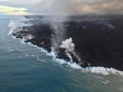 Lava Continues Oozing Into Ocean Near Ahalanui & Kapoho