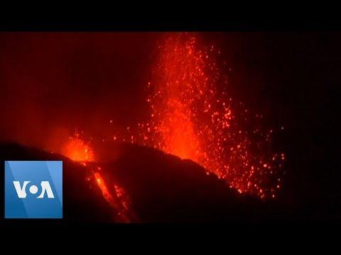 Stromboli Volcano in Italy Erupts