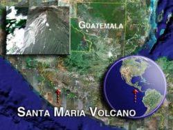 Santiaguito Volcano in Guatemala reports weak explosions