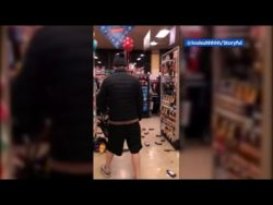 Most annoying accent guy smashes store in Covid meltdown