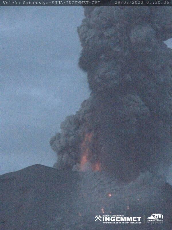 Sabancaya Volcano in Peru is rumbling like crazy