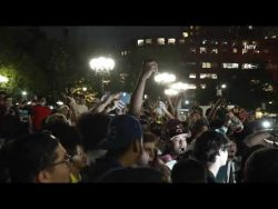 NYC residents celebrating Cuomo's resignation